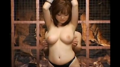 Rio Hamasaki gets trussed up and played with by a horny boy