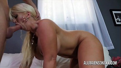 large melon milf Alura Jenson loves screwing younger studs