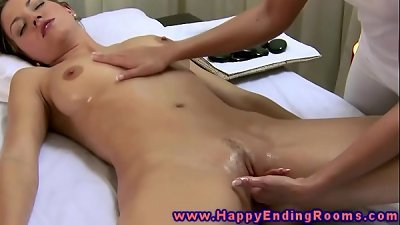 girl gets a blessed ending massage