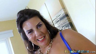 EuropeMaturE busty elderly Lulu lush and huge bumpers