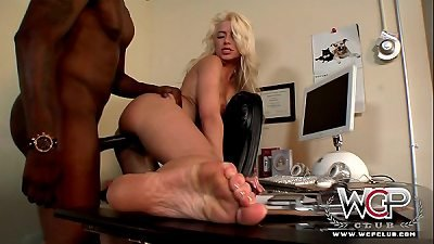 WCPClub beautiful blond Annika Albright housewife cuckold with a huge ebony boy