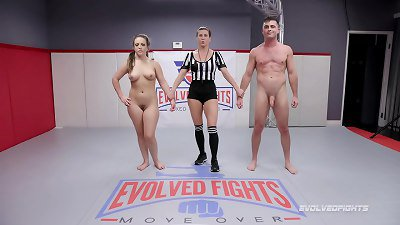 Carmen Valentina nude wresting fight with Lance Hart winner fucks loser