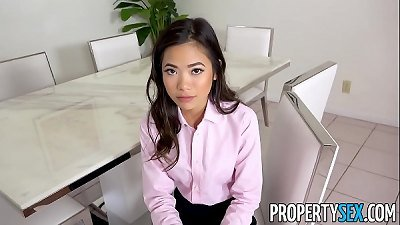 PropertySex - torrid puny asian real estate agent pounds her boss