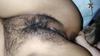 fucking MY COUSIN'S arse IN fresh yr !!! brazilian Latina dark haired celebrating fresh yr 2021 gets her bootie filled with spunk