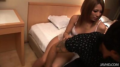 2 huge-chested chinese girls nail a naughty dude in a motel room